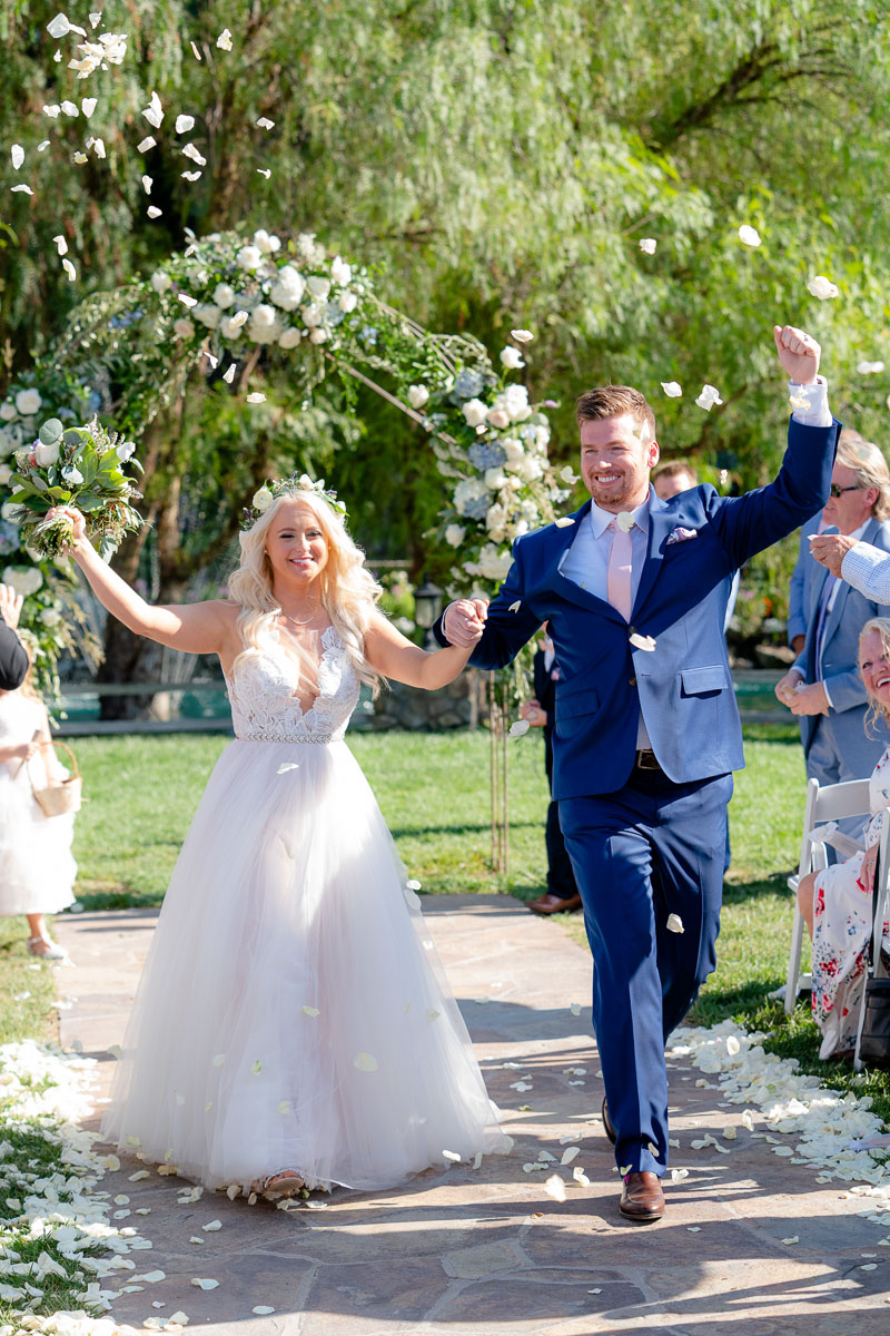 throwing petals after ceremony