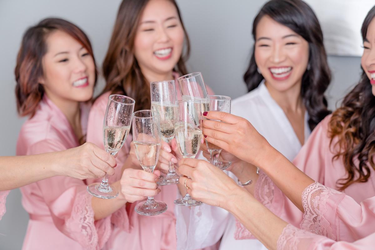 pre wedding champagne photo