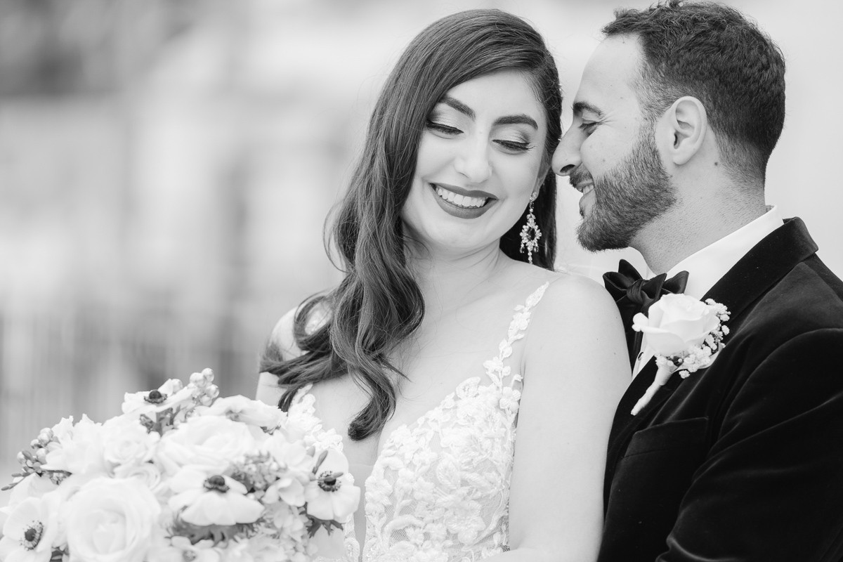persian wedding black and white couples photo