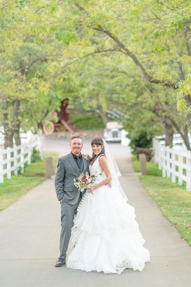 Saddle Ranch wedding day portrait