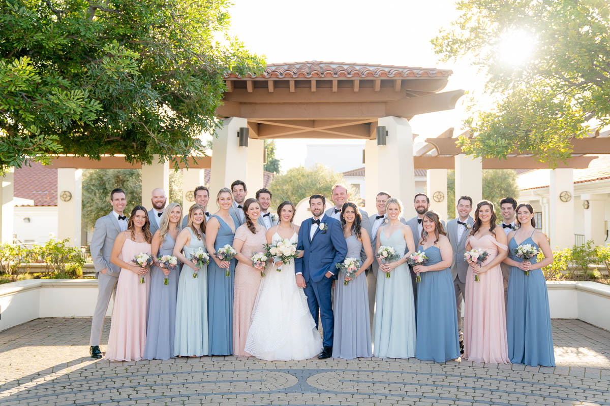 big wedding party photo