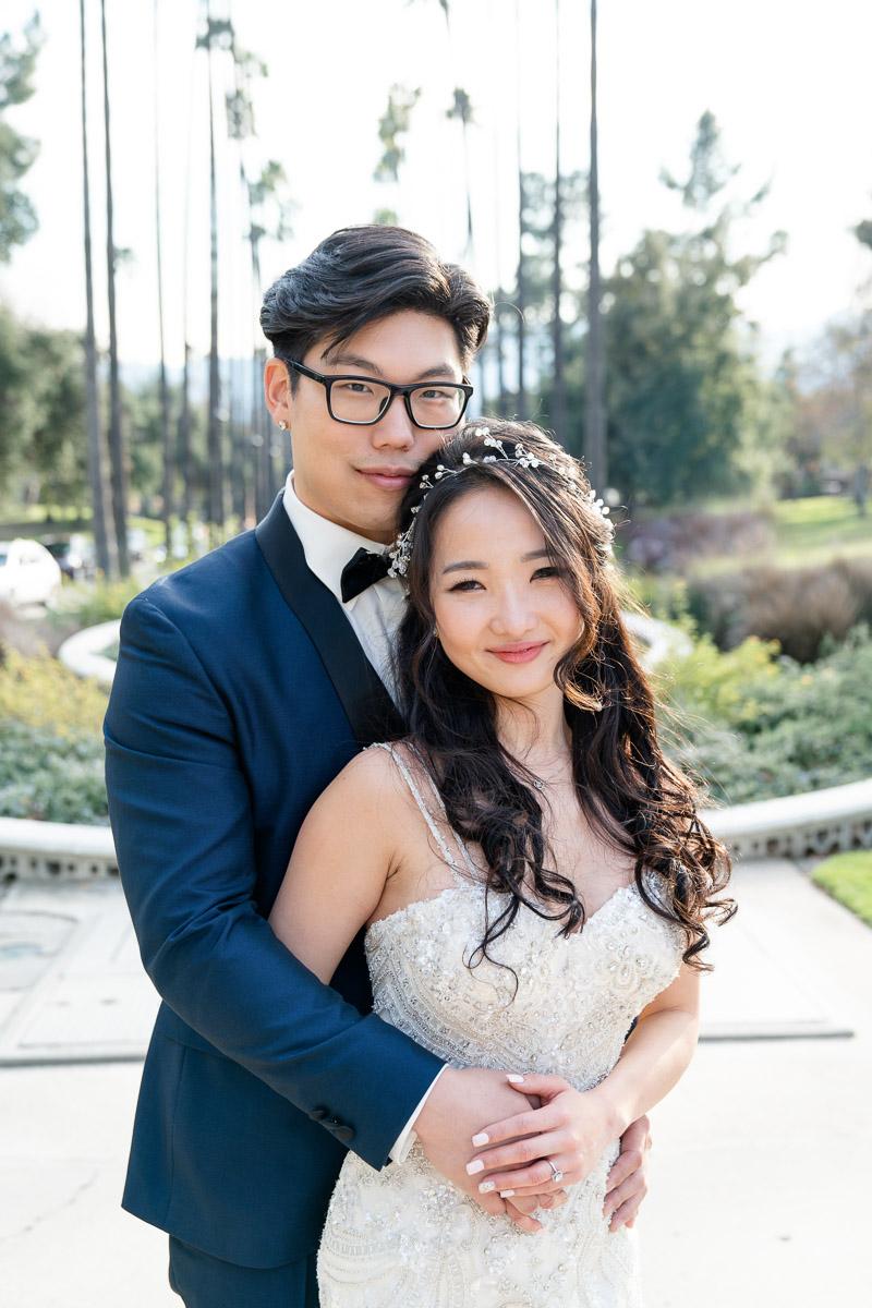 Los Angeles Park wedding portrait