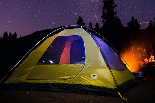How to choose a tent, where and how to set a it up, and how to take it down.