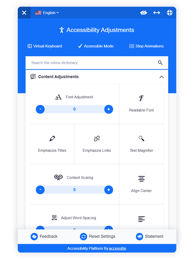 Accessibility Interface
