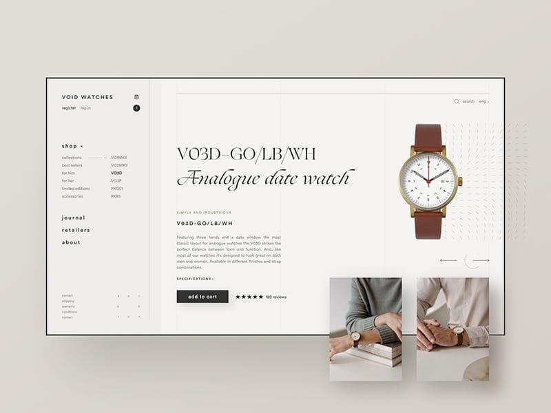 Void Watches e-commerce exploration