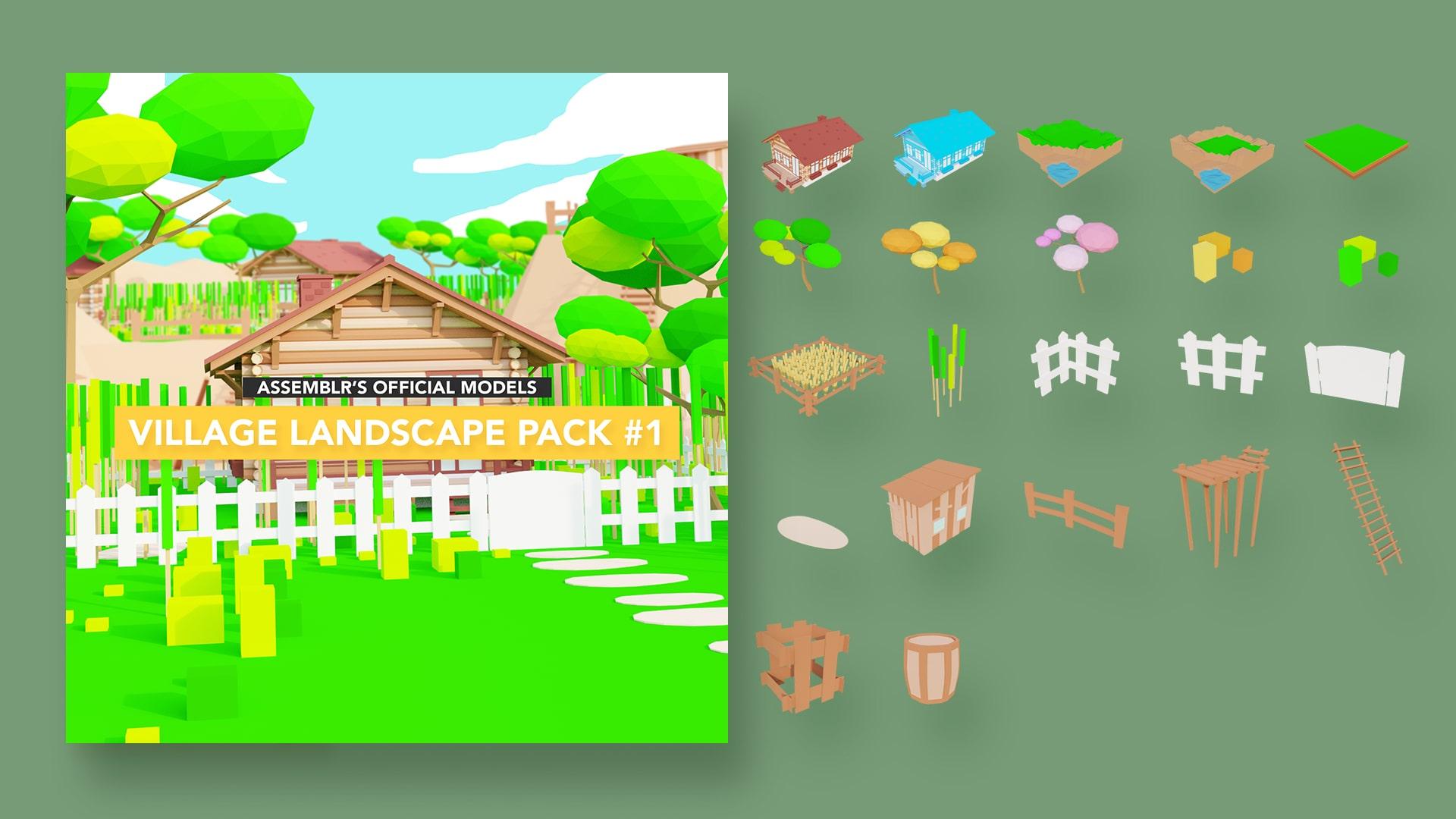 Village landscape pack #1