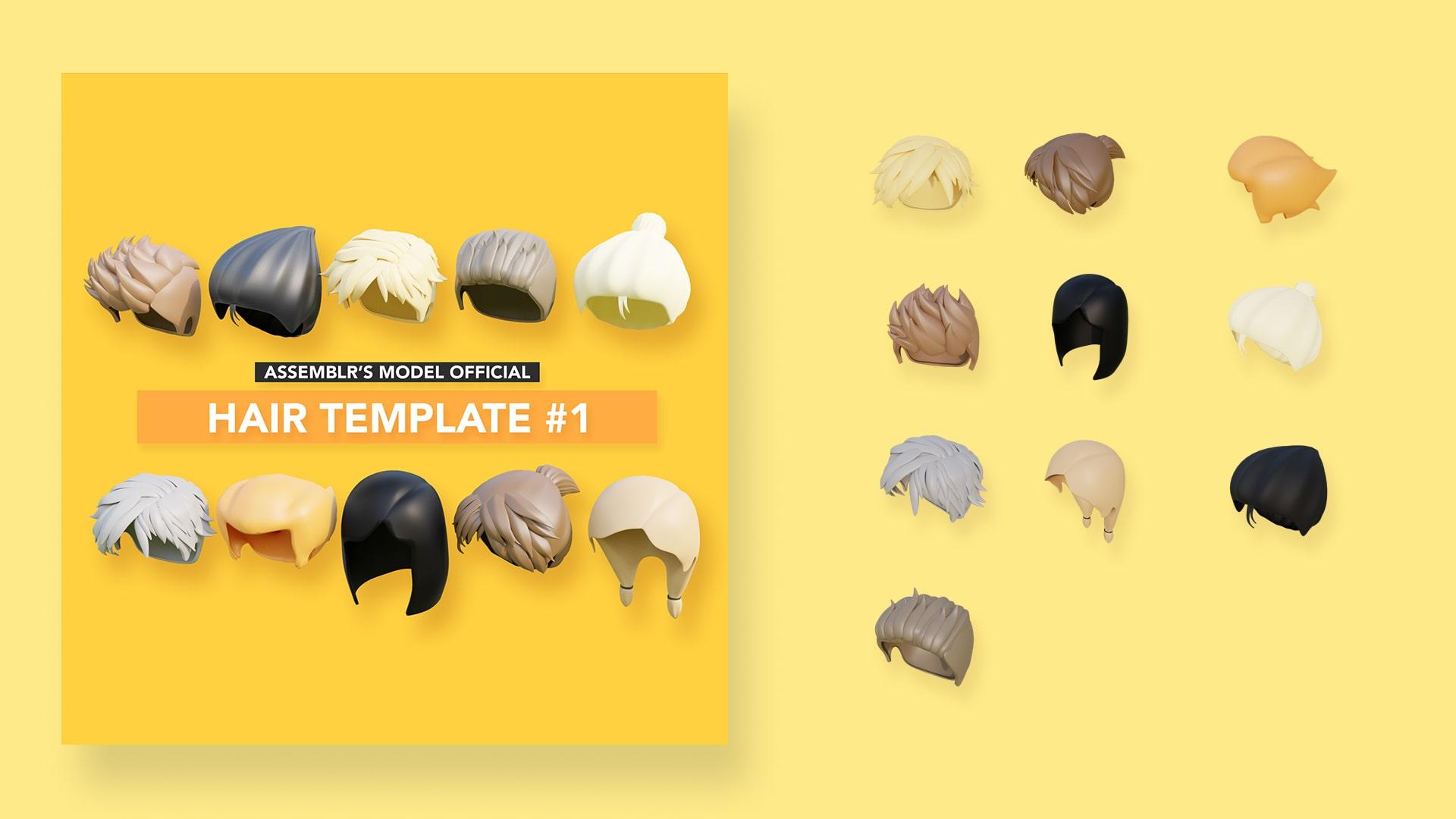 Hair template #1