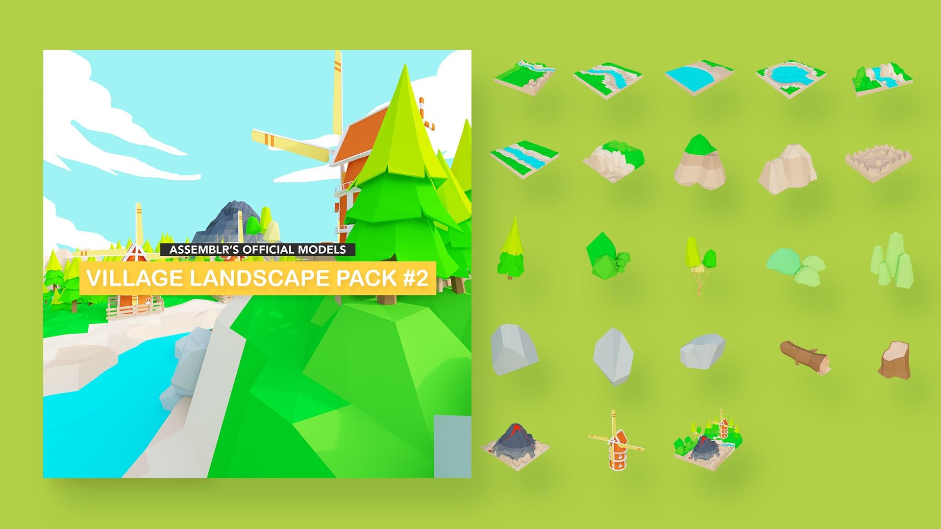 Village landscape pack #2