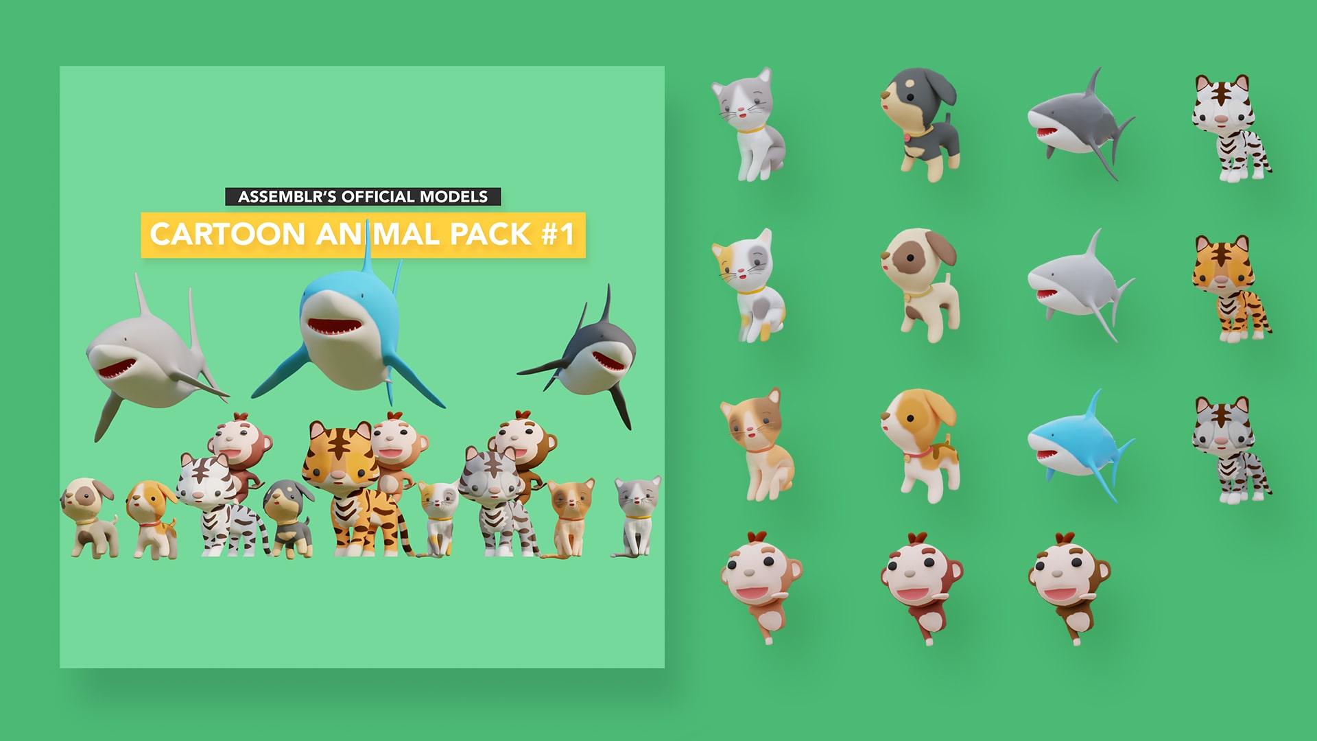 Cartoon animal pack #1