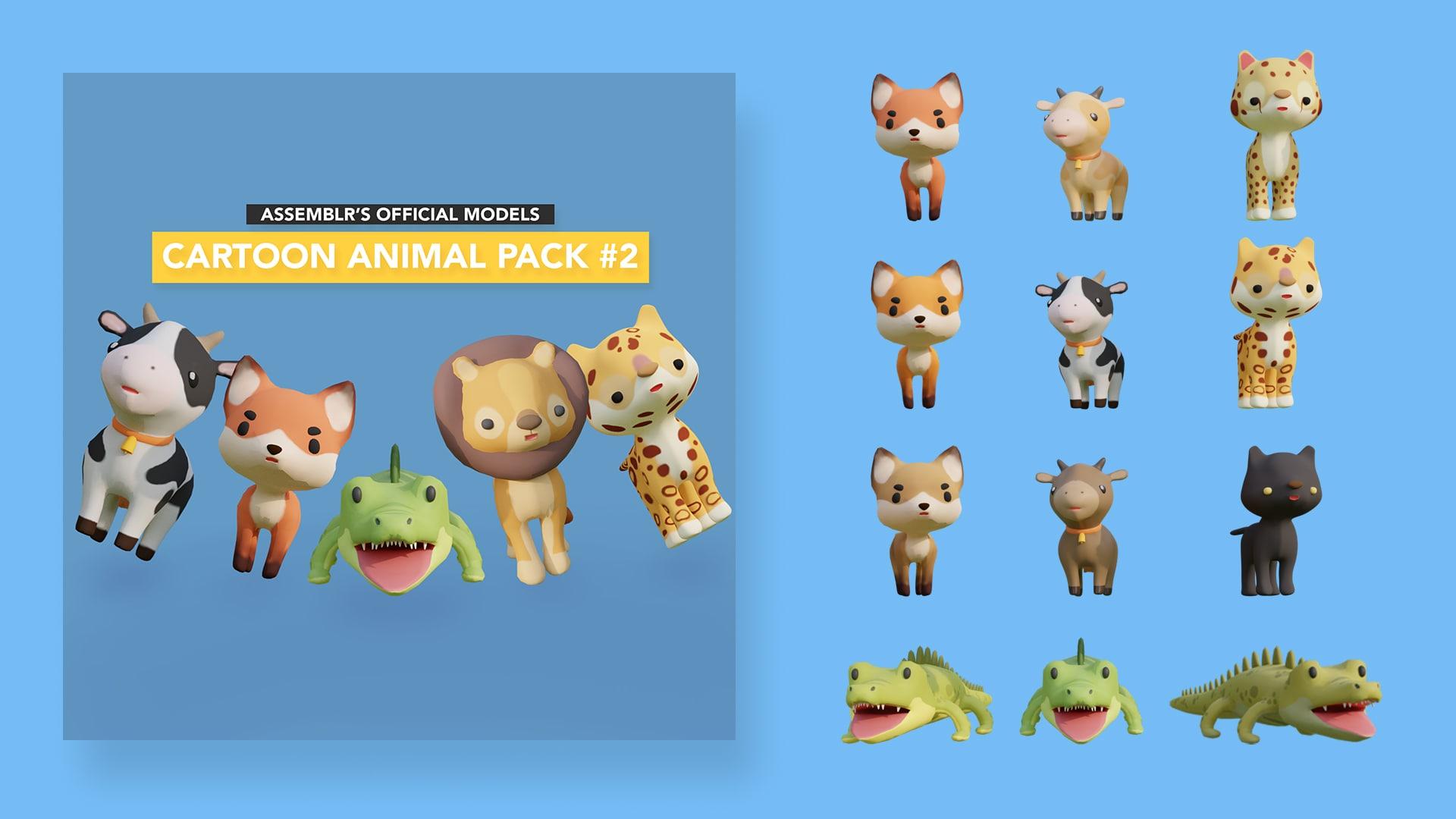 Cartoon animal pack #2