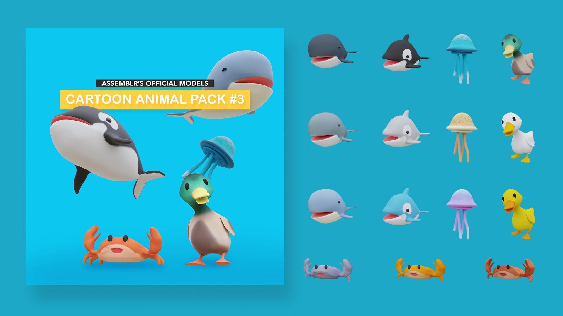 Cartoon animal pack #3