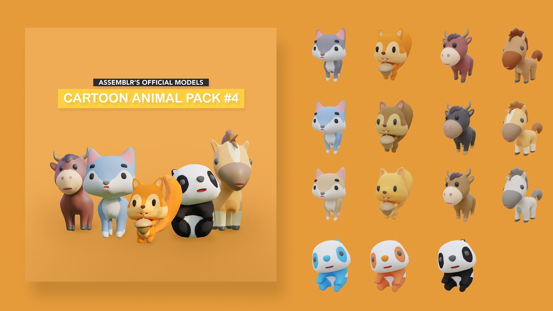 Cartoon animal pack #4
