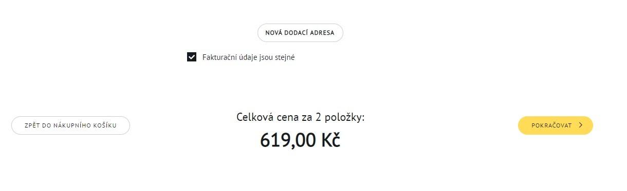 Osobní údaje v košíku prodejce online potravin Košík.cz