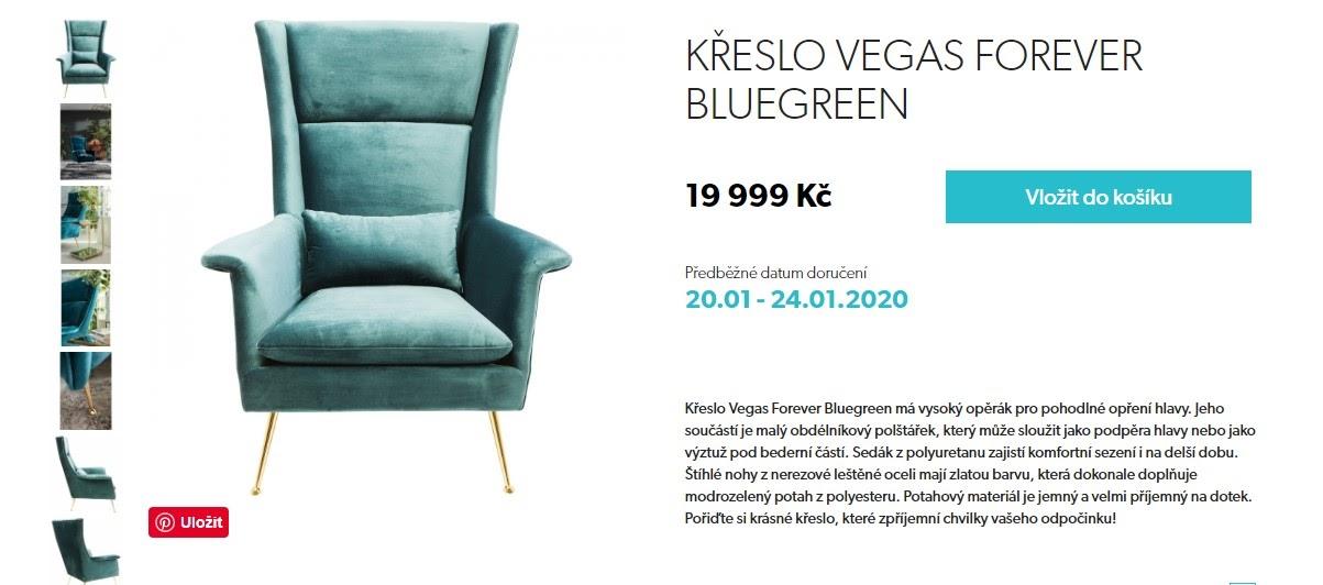 Kare Design křeslo - detail produktu