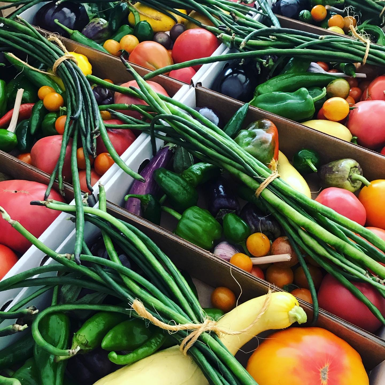 Farm fresh local veggies.