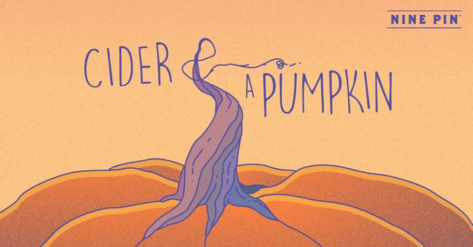 Graphic of an orange pumpkin and reads Cider and a Pumpkin.