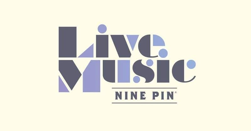 Beige image that reads Live Music at Nine Pin Cider.