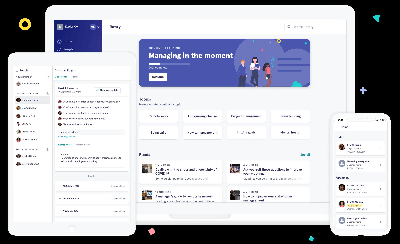Saberr platform on tablet, desktop and mobile