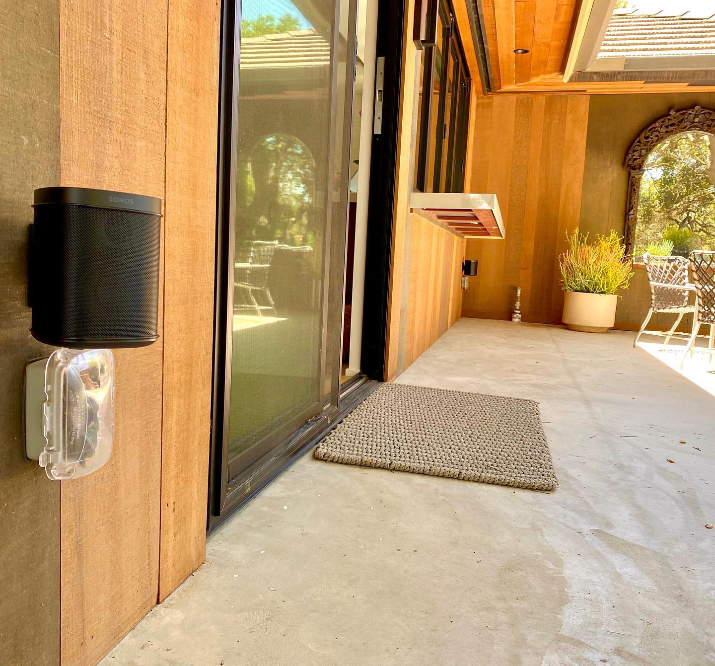 Not every project needs to be a difficult one.  This homeowner wanted to add Sonos music to their patio.  A simple addition of a pair of Sonos ones did the job.  . . . #sonos #sonosone #outdoormusic #retrofit #simpleaudio #rockout