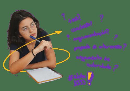 Vestibulando estudando com o Plano Intensivo ENEM de aulas particulares de reforço escolar de  redação para tirar 1000 na redação do ENEM