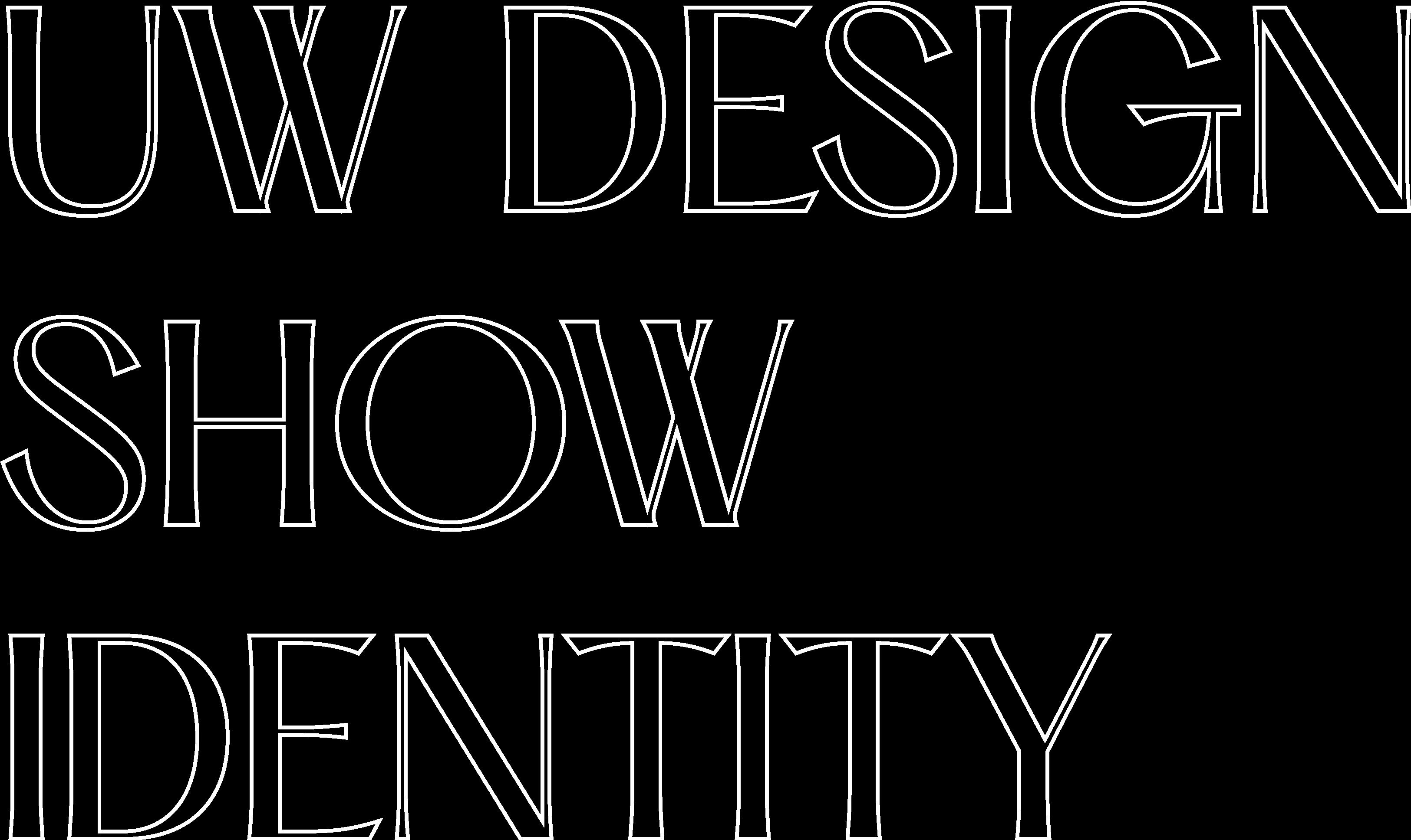 UW Design Show Identity