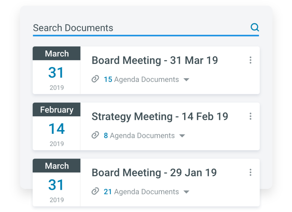 search meeting documents