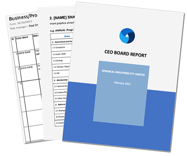 ceo report template to download