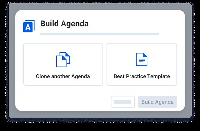 Agenda builder