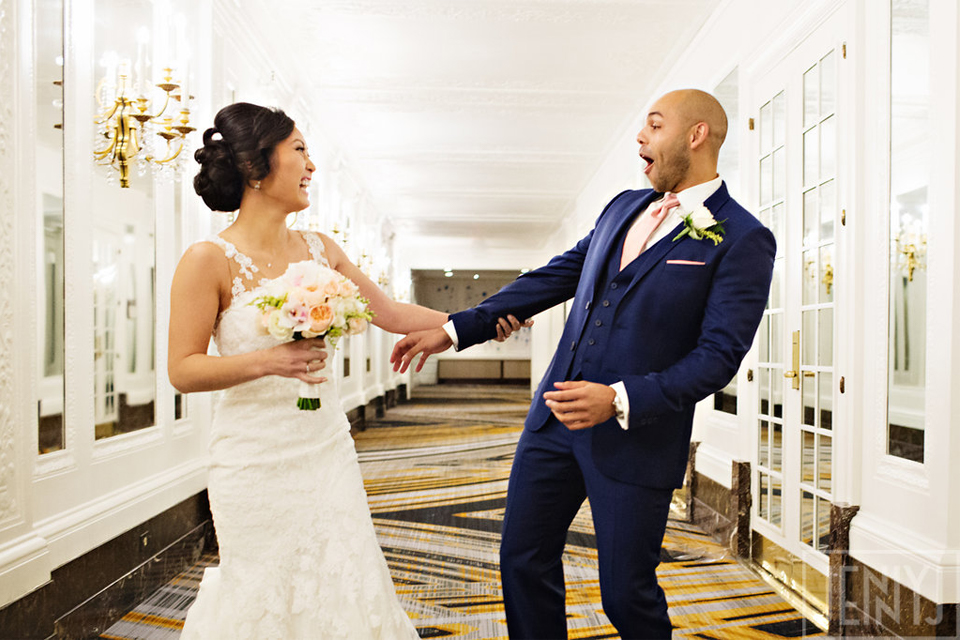 Groom's jaw drops when seeing bride