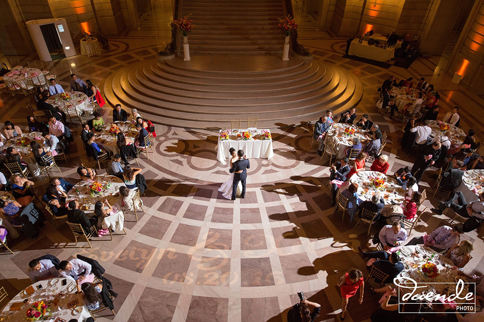 Bride and groom first dance at San Francisco City Hall