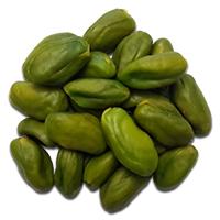 een peeled pistachio kernel