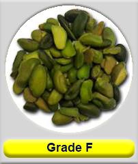 Greened Crushed pistachio grade F