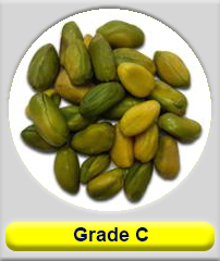 Green Shelled  pistachio grade C