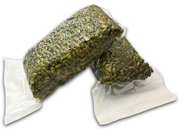vacuum pack of green pistachio kernel