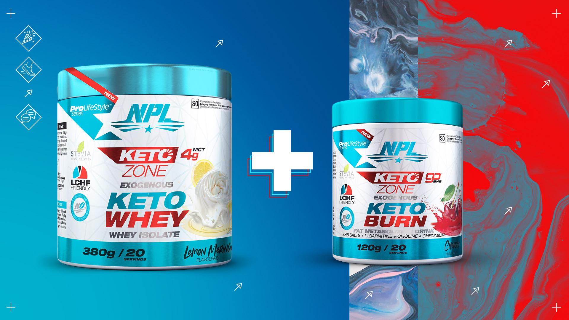 Product package design of NPL's Keto Zone range