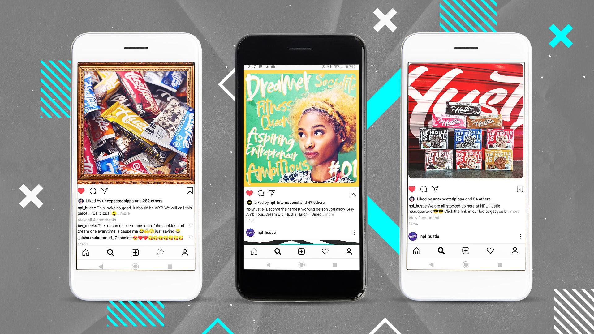 Hustle social media designs