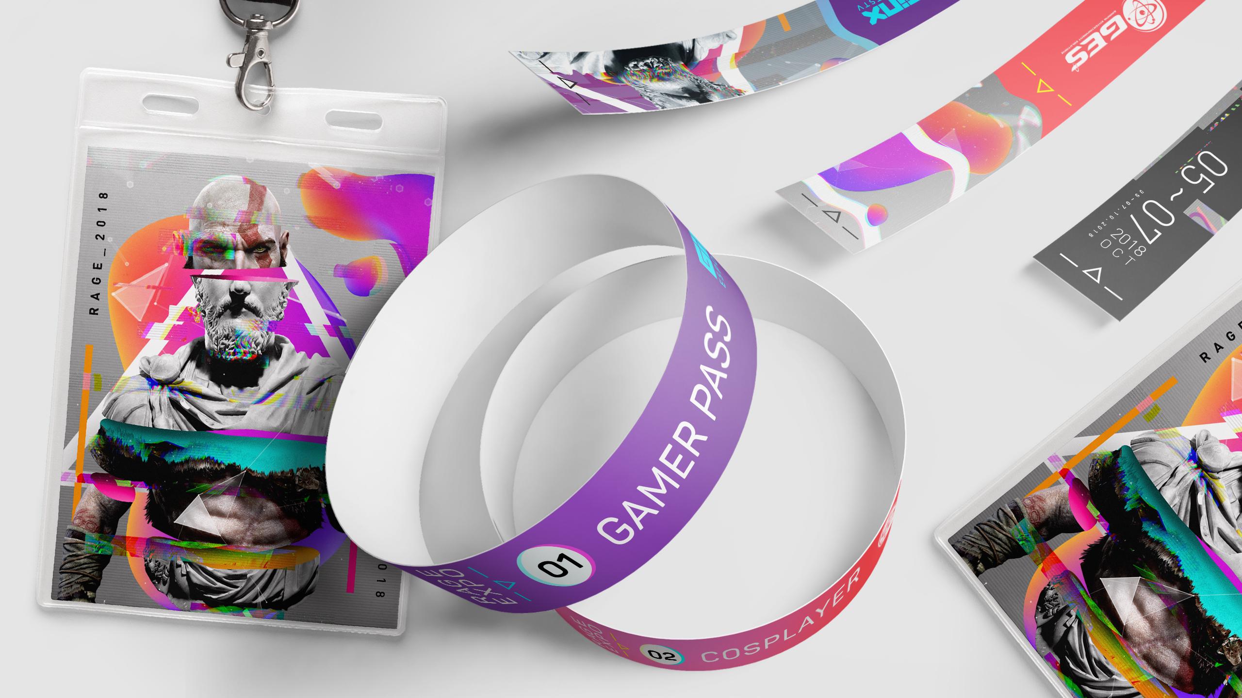 rAge Expo wristband access designs