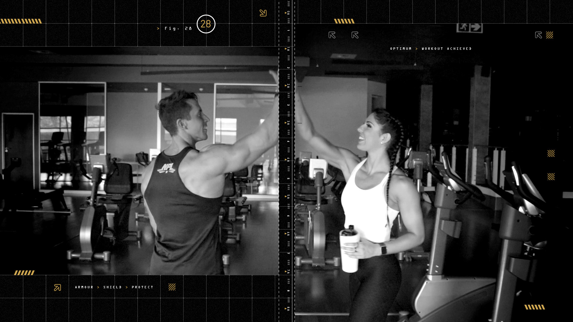 Male and female athletes high-five after a workout