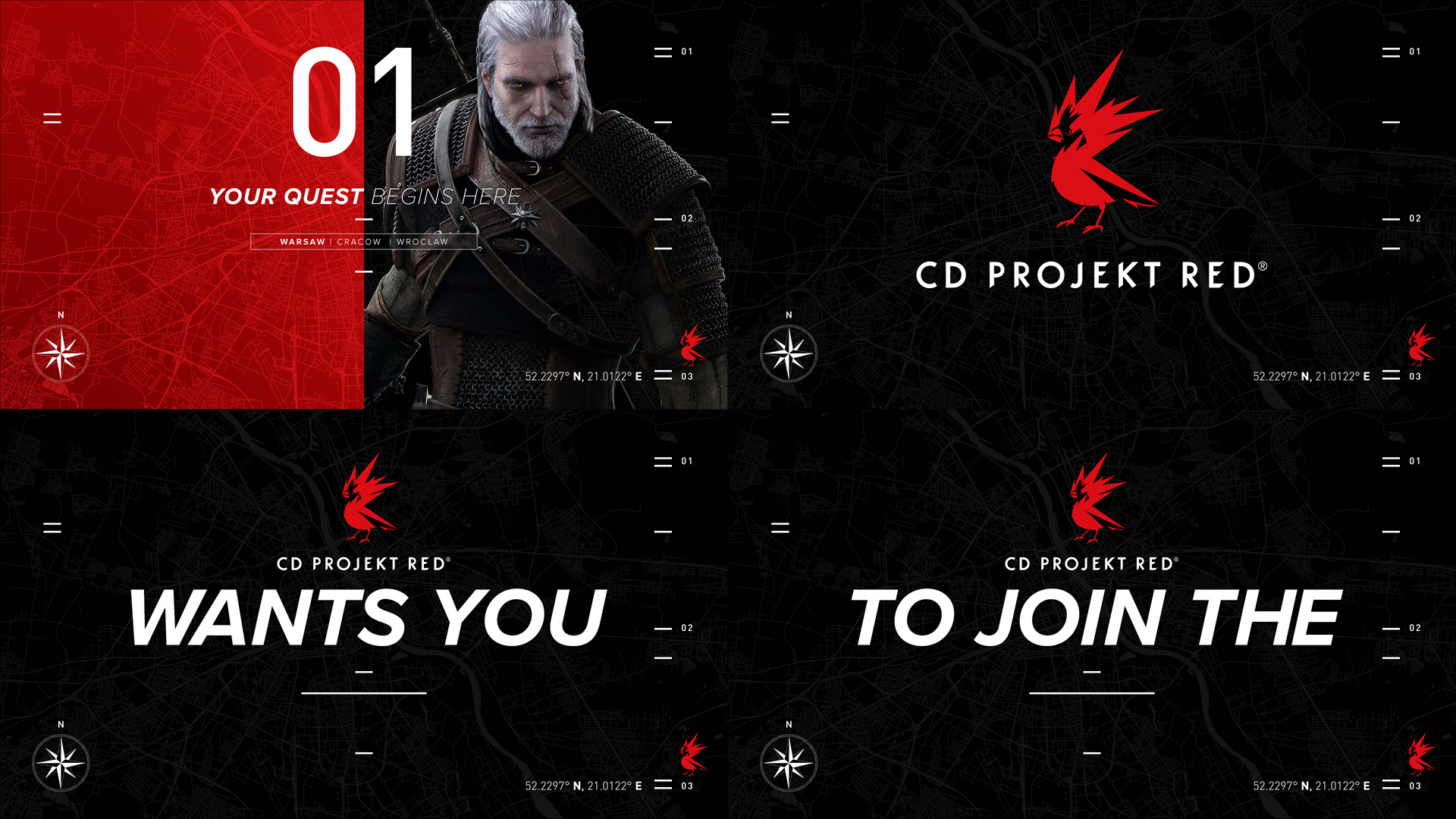 CD Projekt Red logo with text on black background