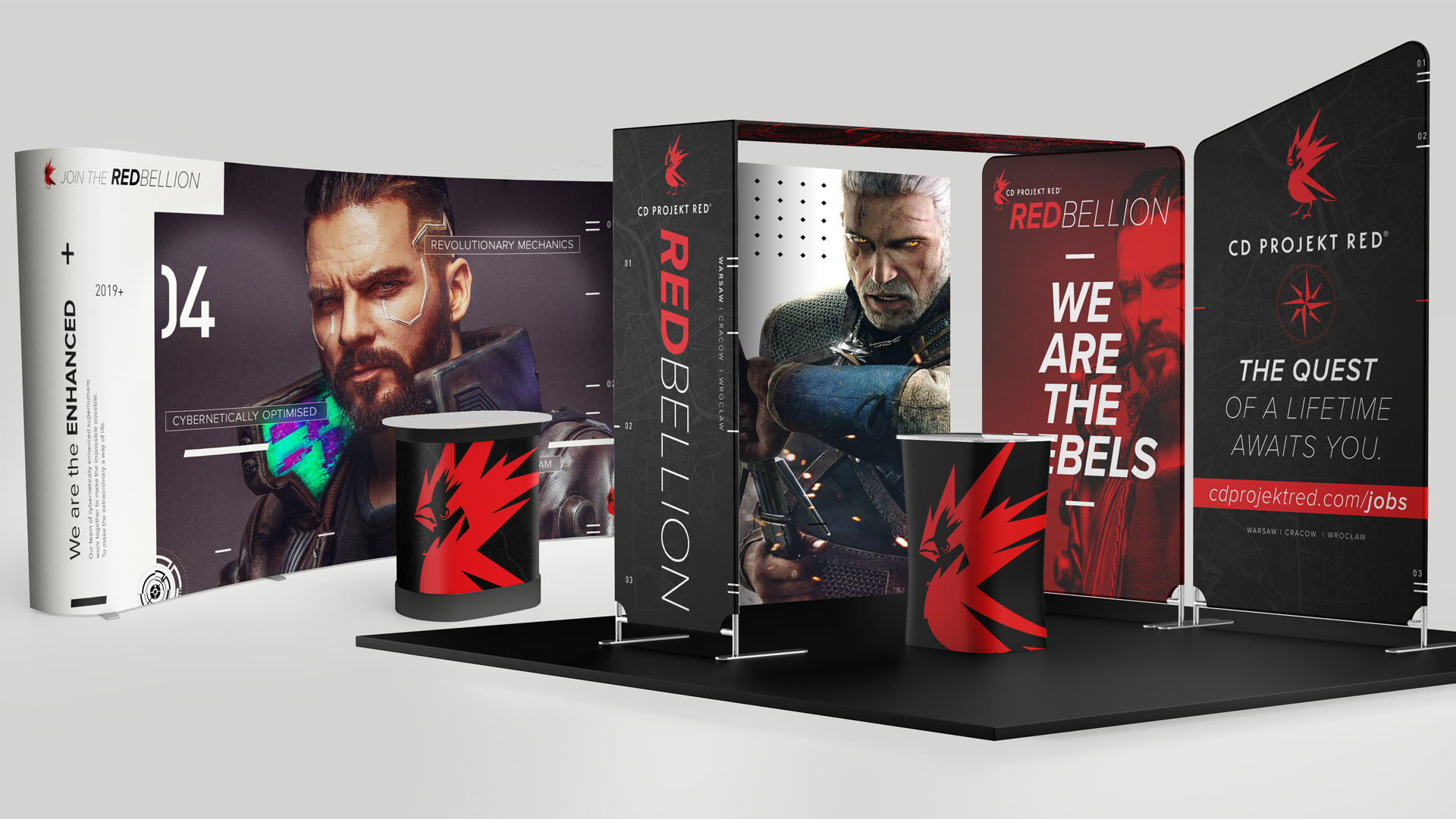 CD Projekt Red trade show booth concept