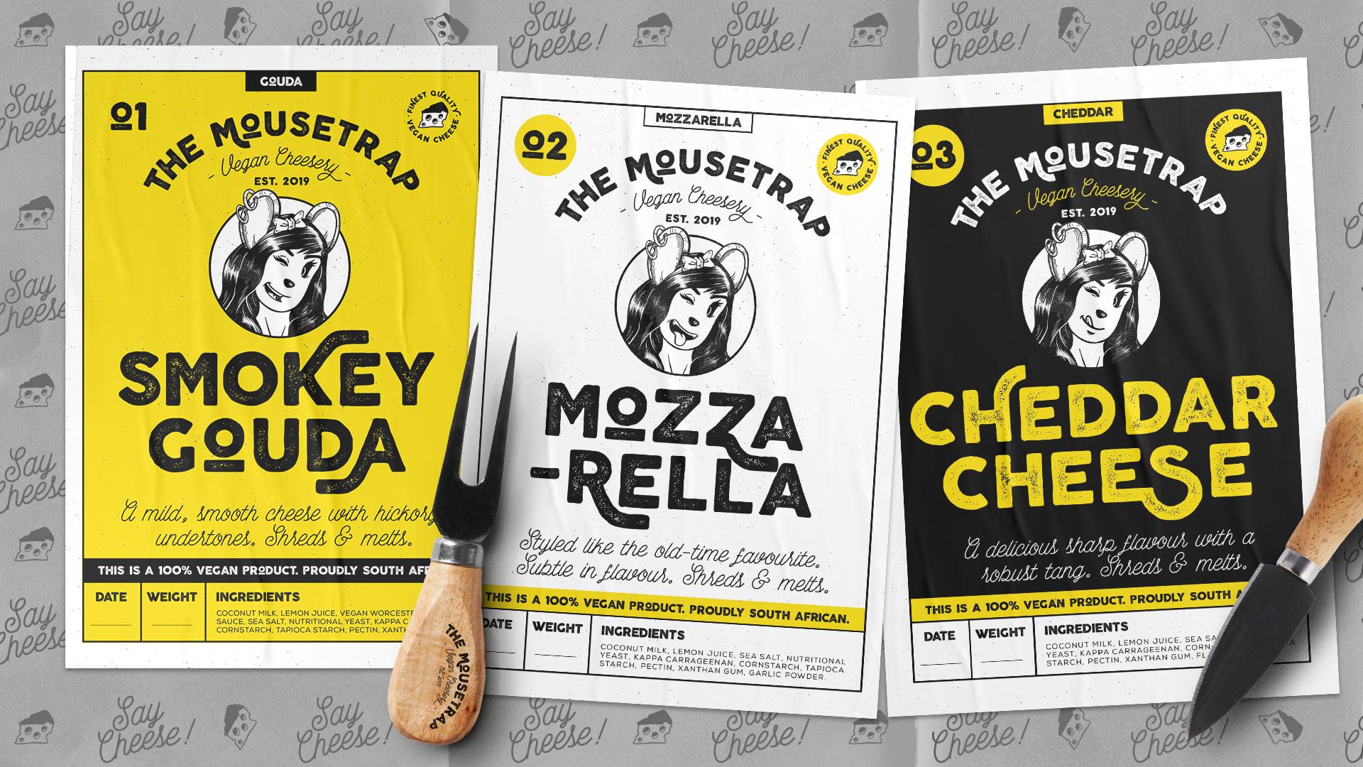 The Mousetrap label designs
