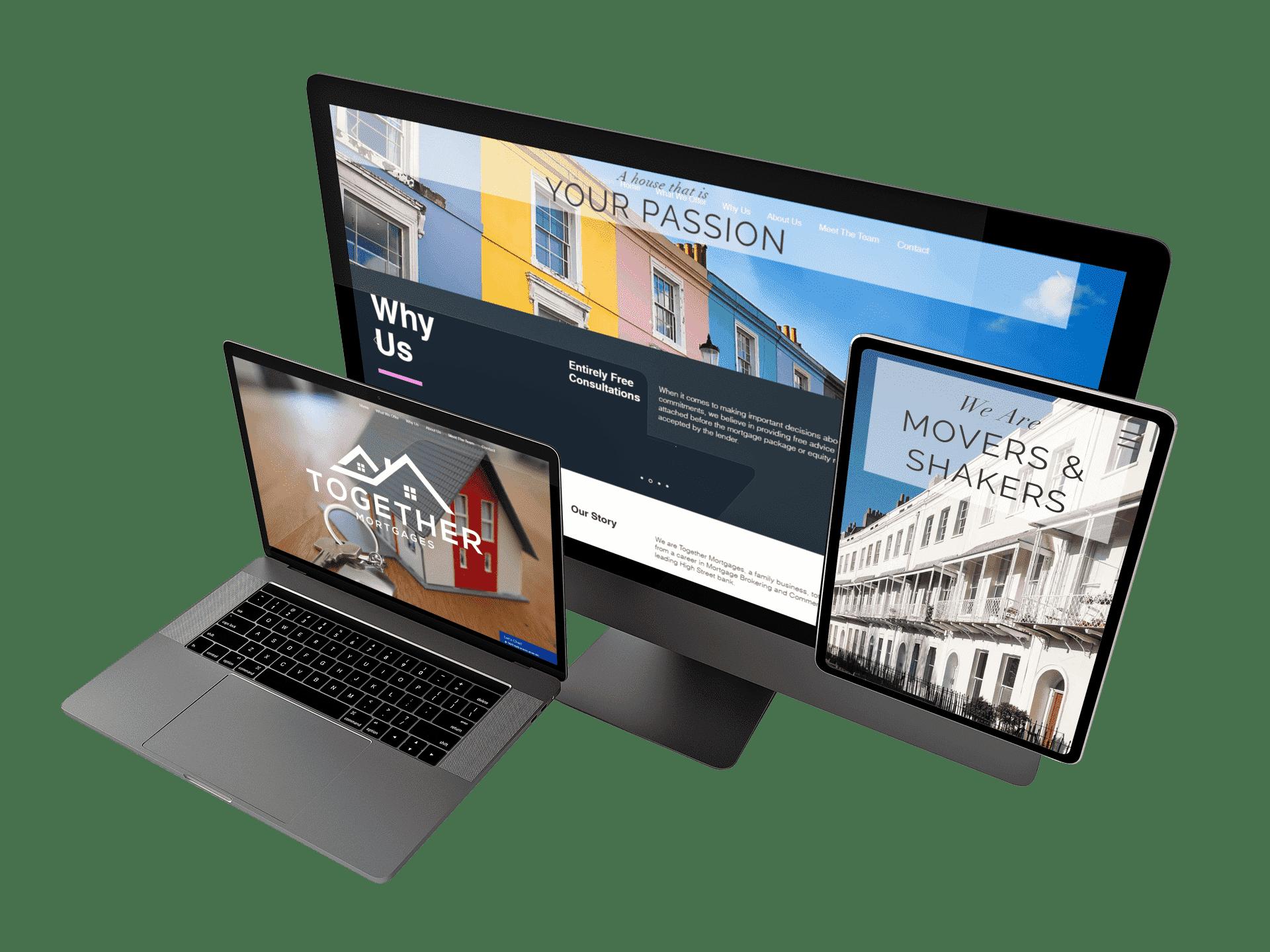 Mock-up of the Together Mortgages website