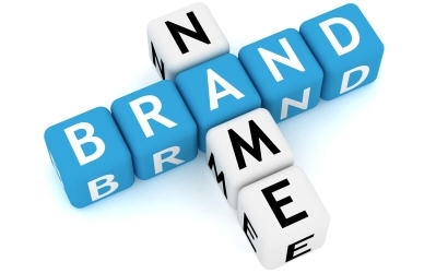 Brand Name spelled out