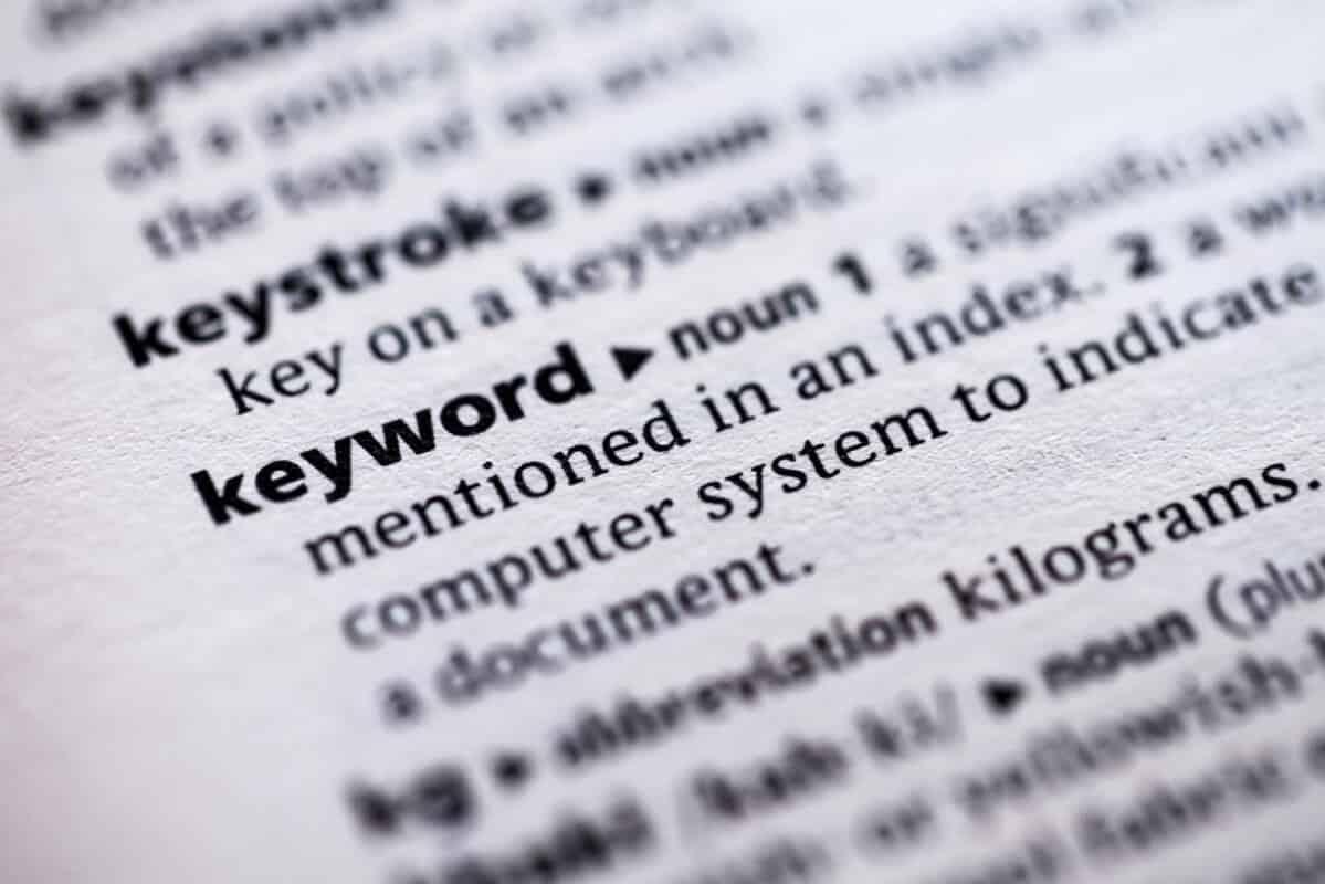 keyword definition