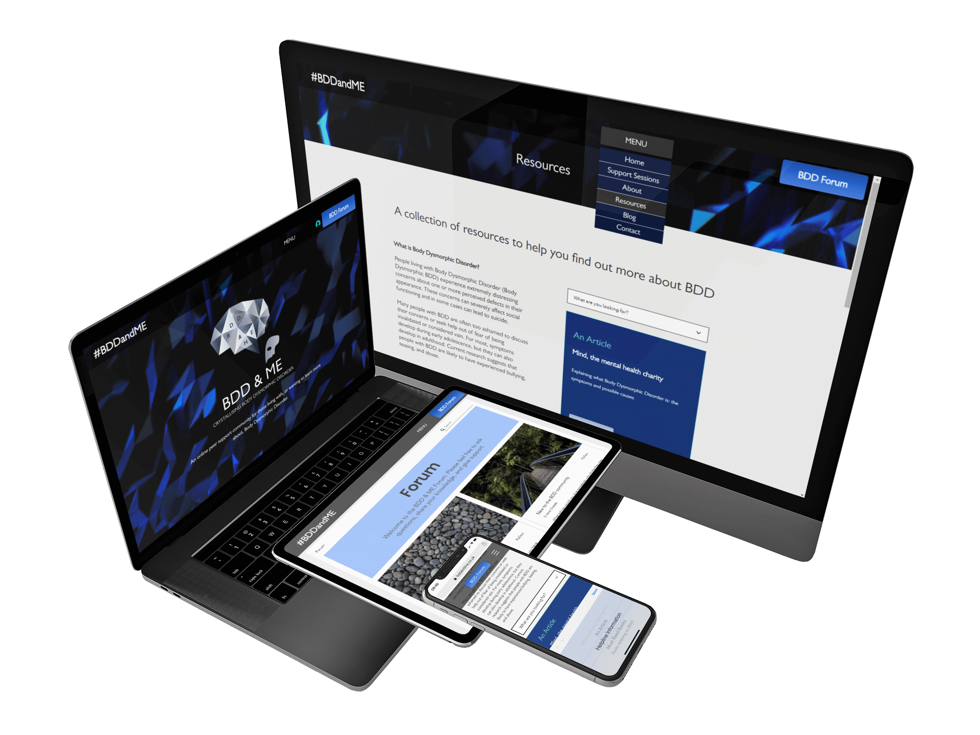 Website Development Mockup