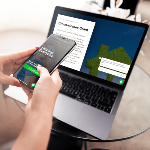 Green homes grant website mockup