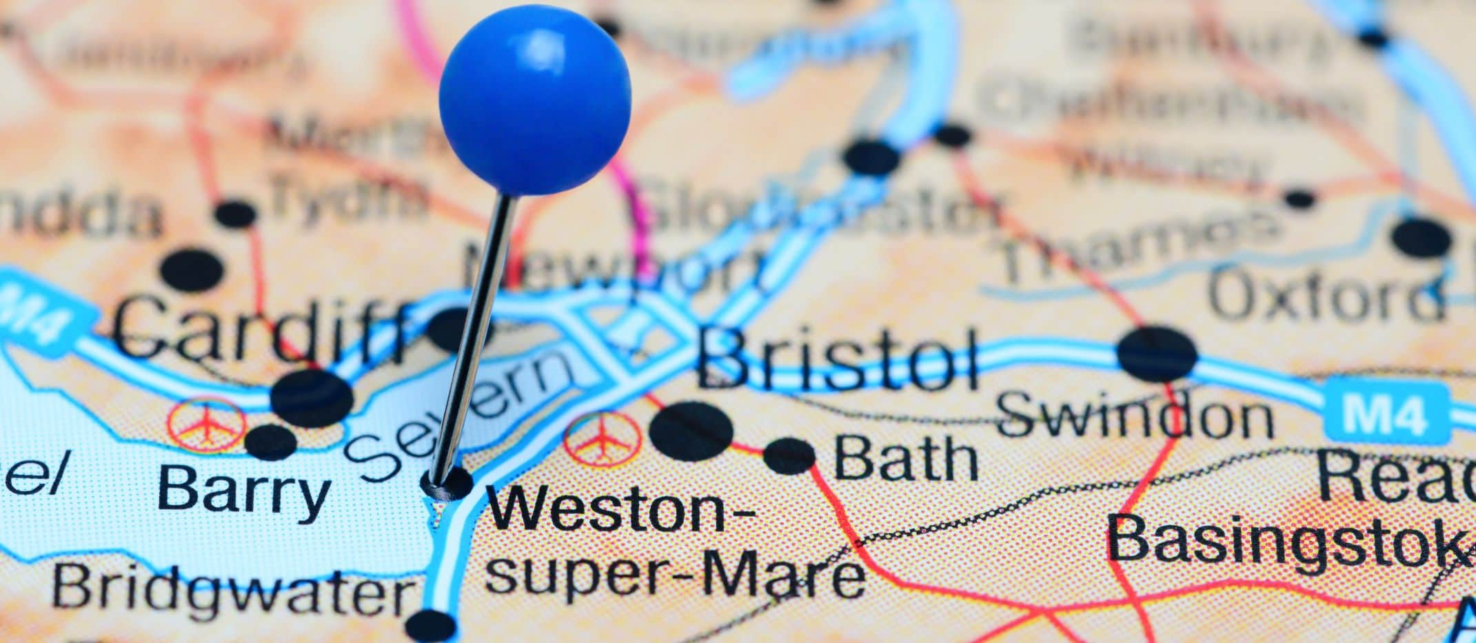 Weston-super-Mare on the Map