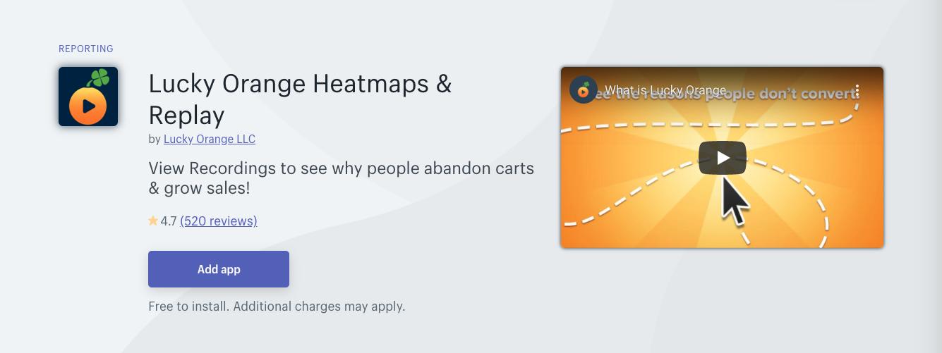 lucky orange shopify app