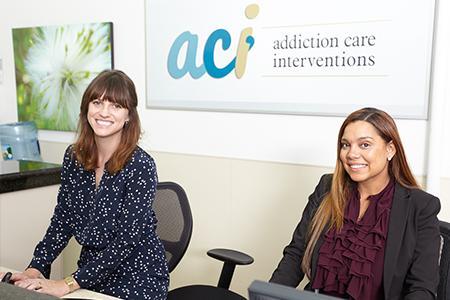 ACI admissions staff at front desk
