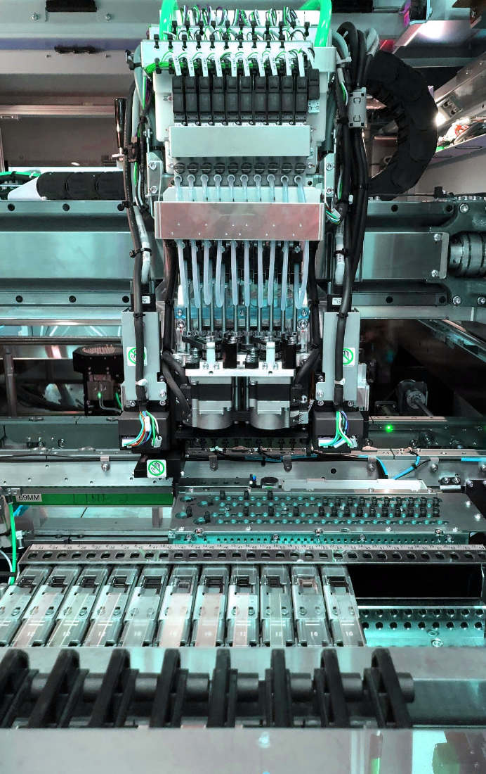 PCB assembly manufactured by robots and artificial intelligence